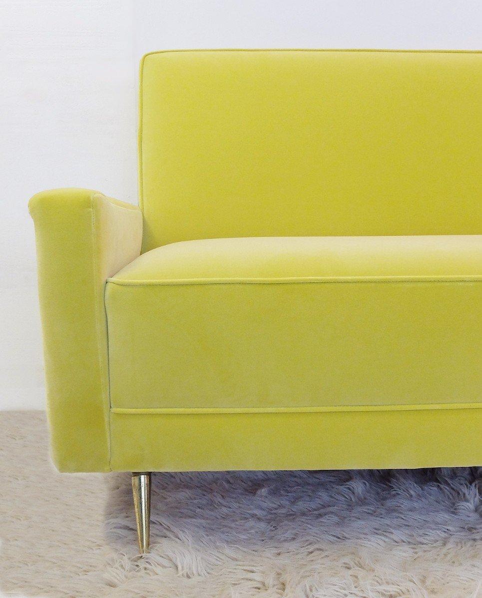 gelbes italienisches vintage sofa bei pamono kaufen. Black Bedroom Furniture Sets. Home Design Ideas