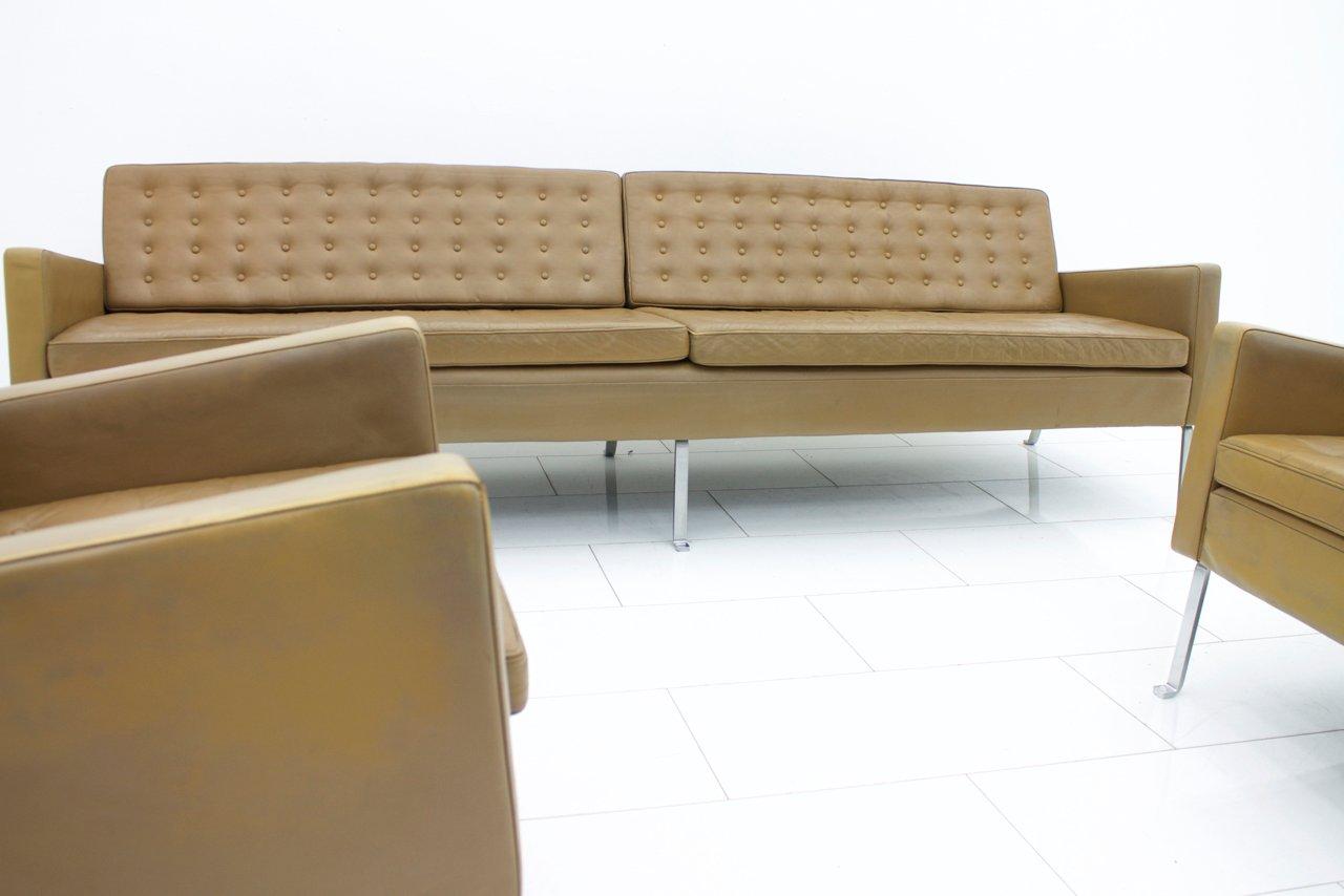 4 sitzer modell 462s ledersofa von roland rainer 1956 bei pamono kaufen. Black Bedroom Furniture Sets. Home Design Ideas