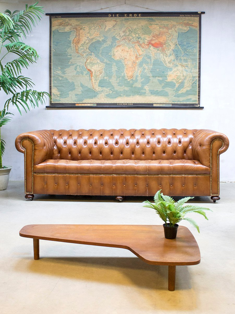 Vintage Leather Chesterfield Sofa for sale at Pamono