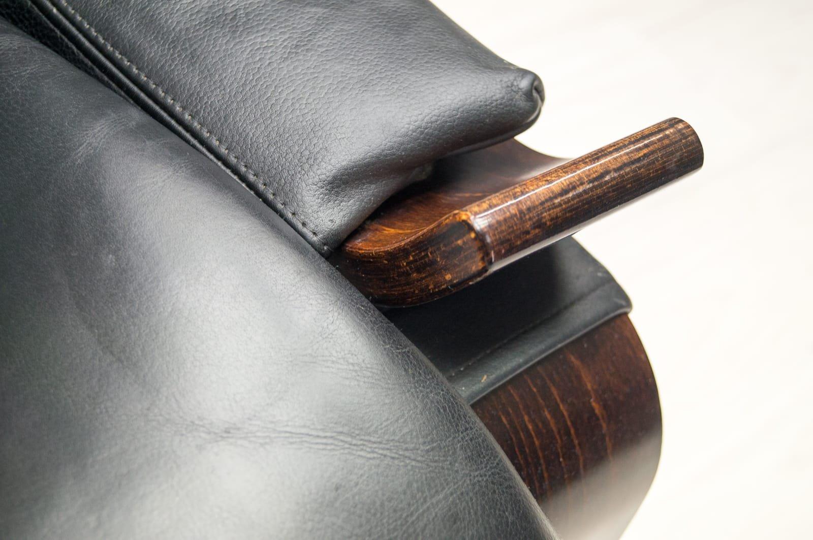 vintage leather armchair by ke fribytter for nelo m bel. Black Bedroom Furniture Sets. Home Design Ideas