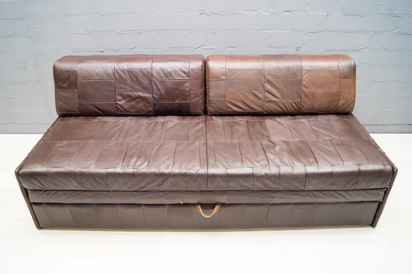 vintage patchwork ledersofa 1960er bei pamono kaufen. Black Bedroom Furniture Sets. Home Design Ideas