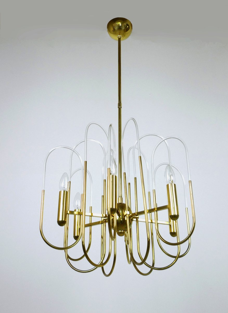 Mid century brass chandelier by gaetano sciolari for sciolari mid century brass chandelier by gaetano sciolari for sciolari lighting 1960s aloadofball Images