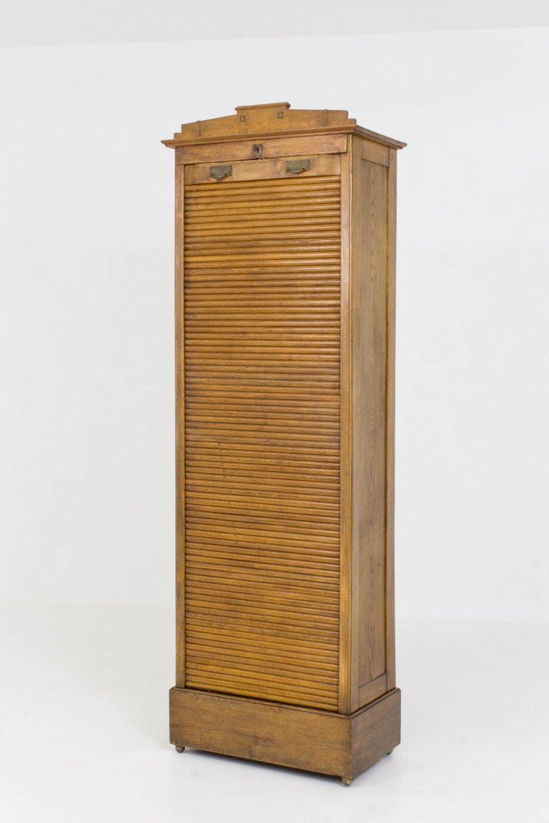 armoire rideau art nouveau pays bas 1900s en vente sur pamono. Black Bedroom Furniture Sets. Home Design Ideas
