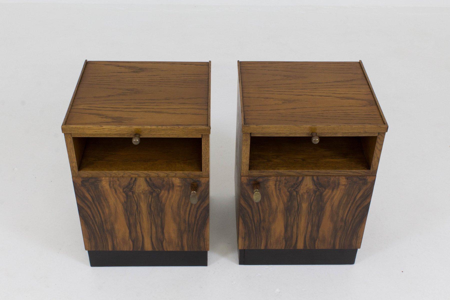 tables de chevet art d co cole de la haye par paul bromberg pour pander 1930s set de 2 en. Black Bedroom Furniture Sets. Home Design Ideas