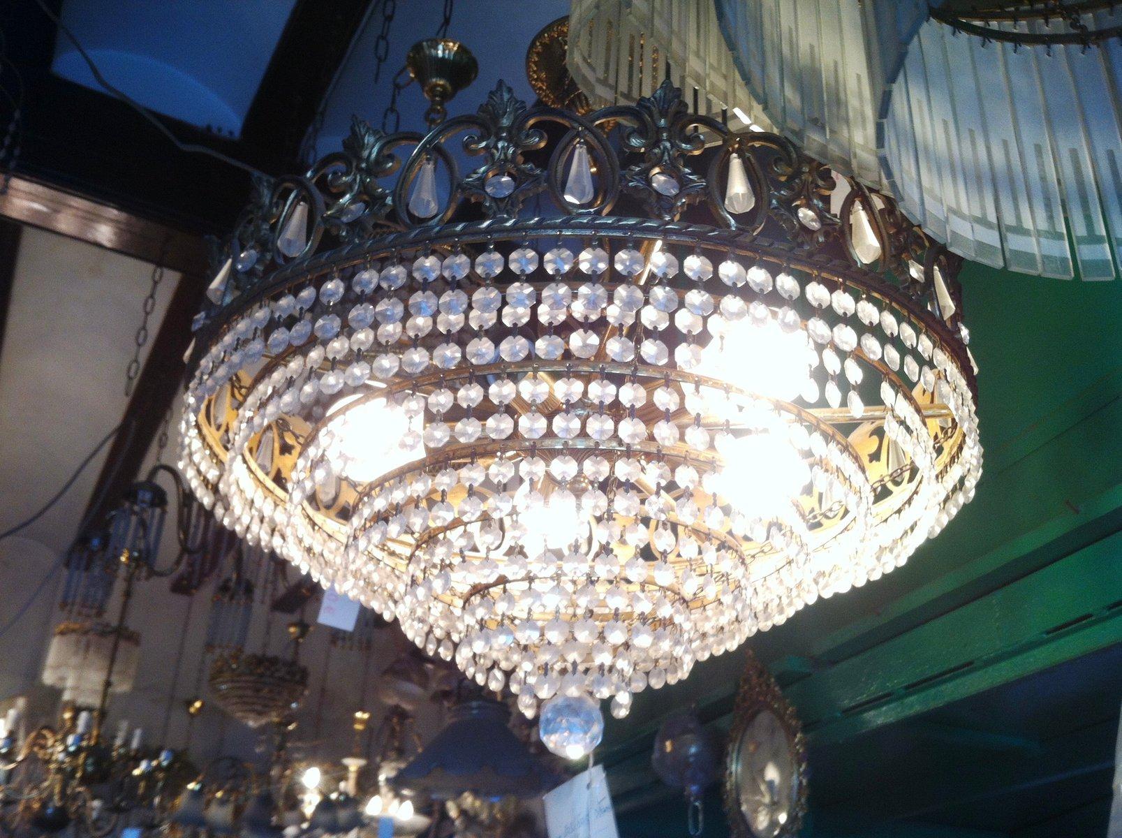 Vintage Austrian Swarovski Crystal Chandelier 1980s for sale at