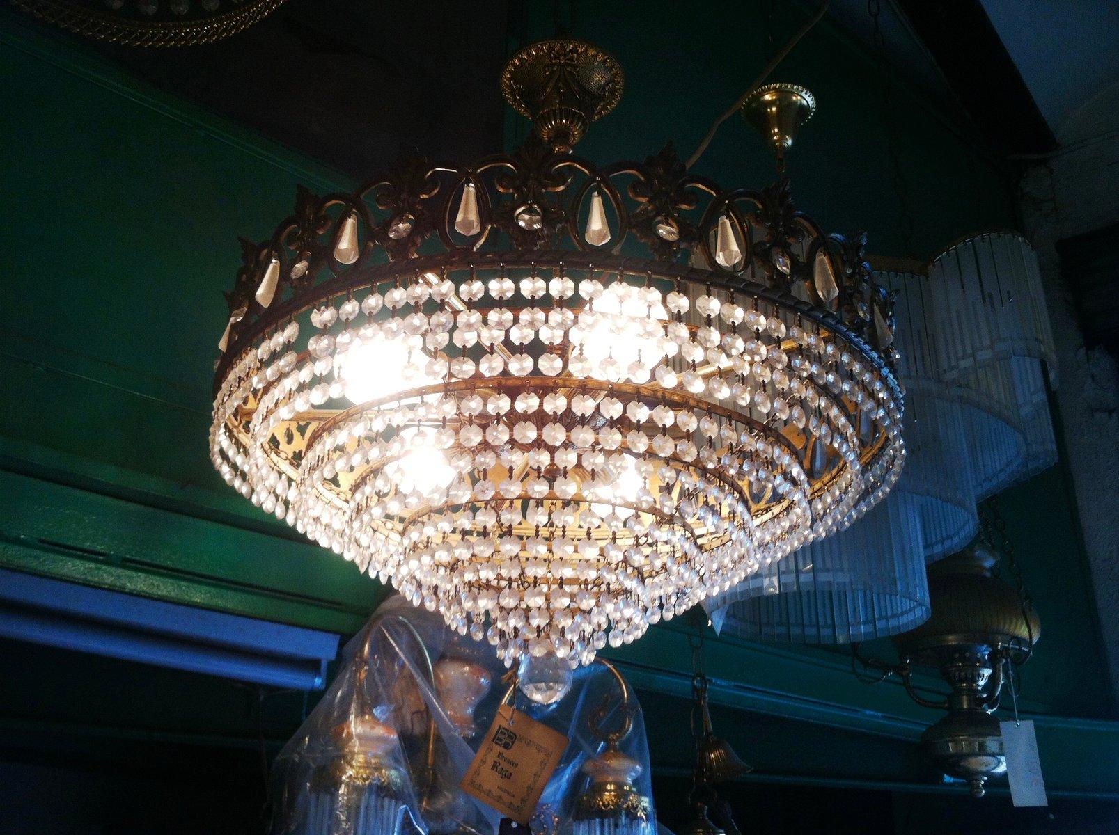 sterreichischer vintage swarovski kristall kronleuchter. Black Bedroom Furniture Sets. Home Design Ideas
