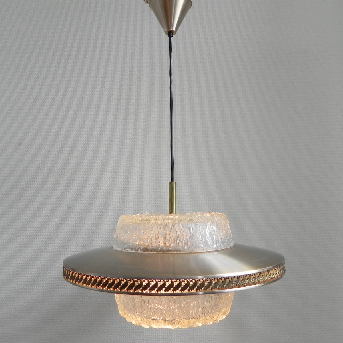 Vintage Dutch Space Age Pendant Lamp 1960s