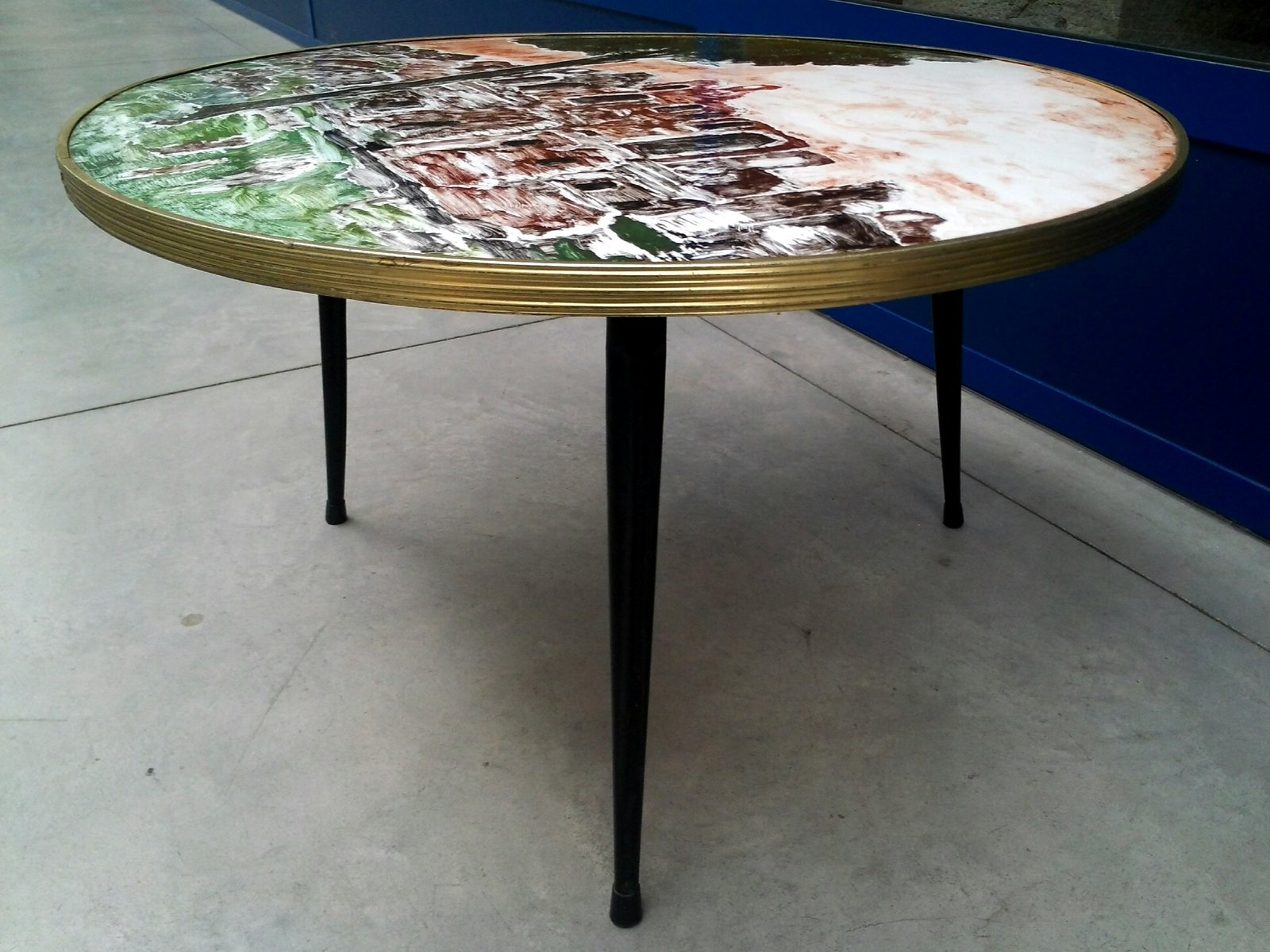 Italian Painted Coffee Table 1959 for sale at Pamono
