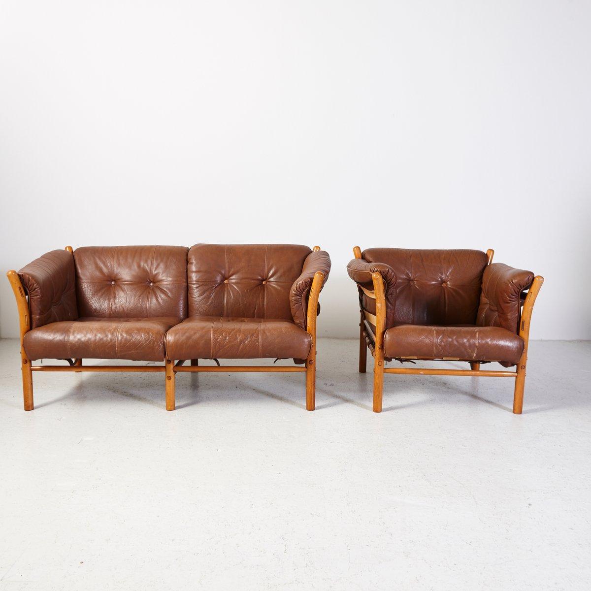 vintage ilona sessel und sofa von arne norell bei pamono. Black Bedroom Furniture Sets. Home Design Ideas