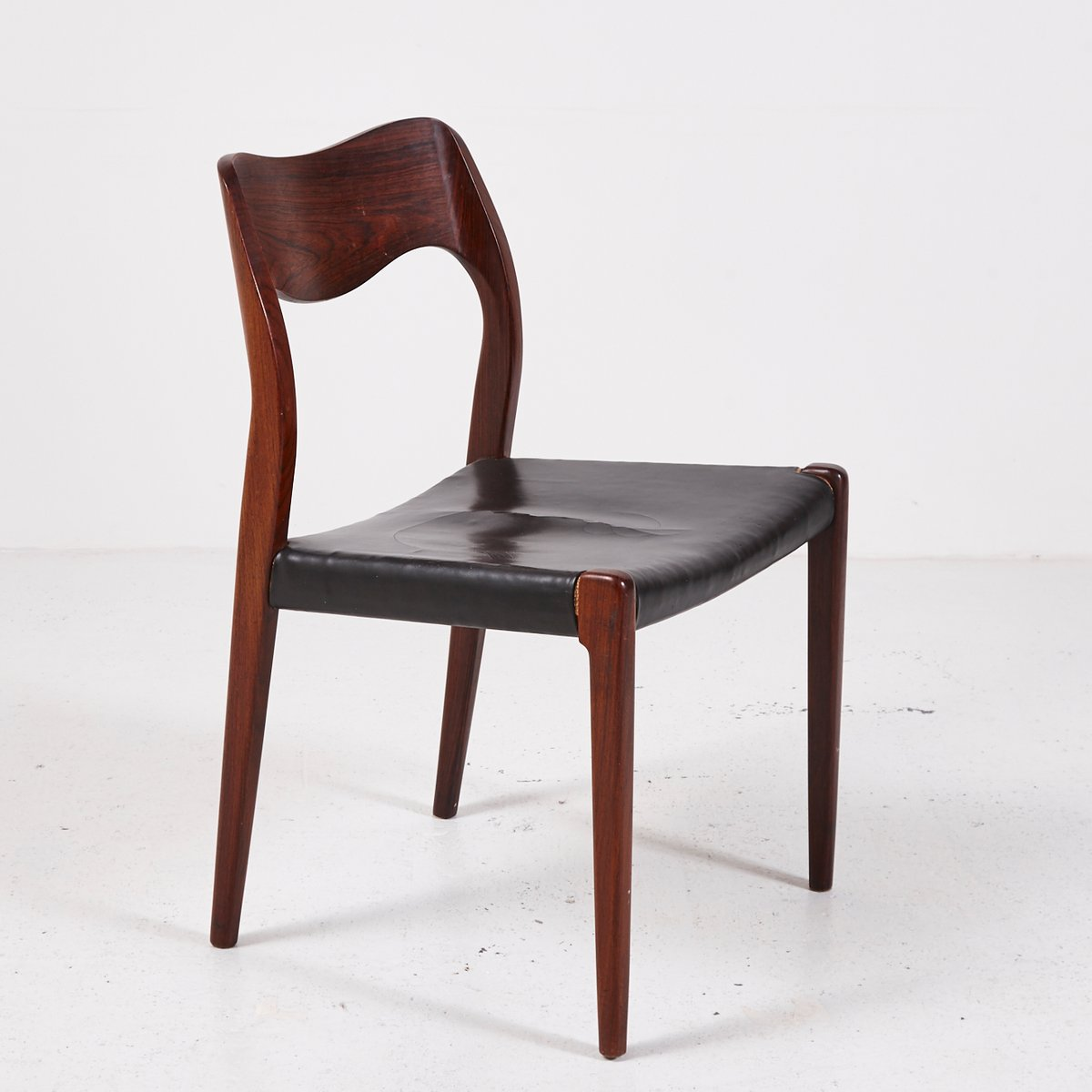 Mid Century Model 71 Rosewood Chairs By Niels O. Møller For J.L. Møllers,  Set Of 4
