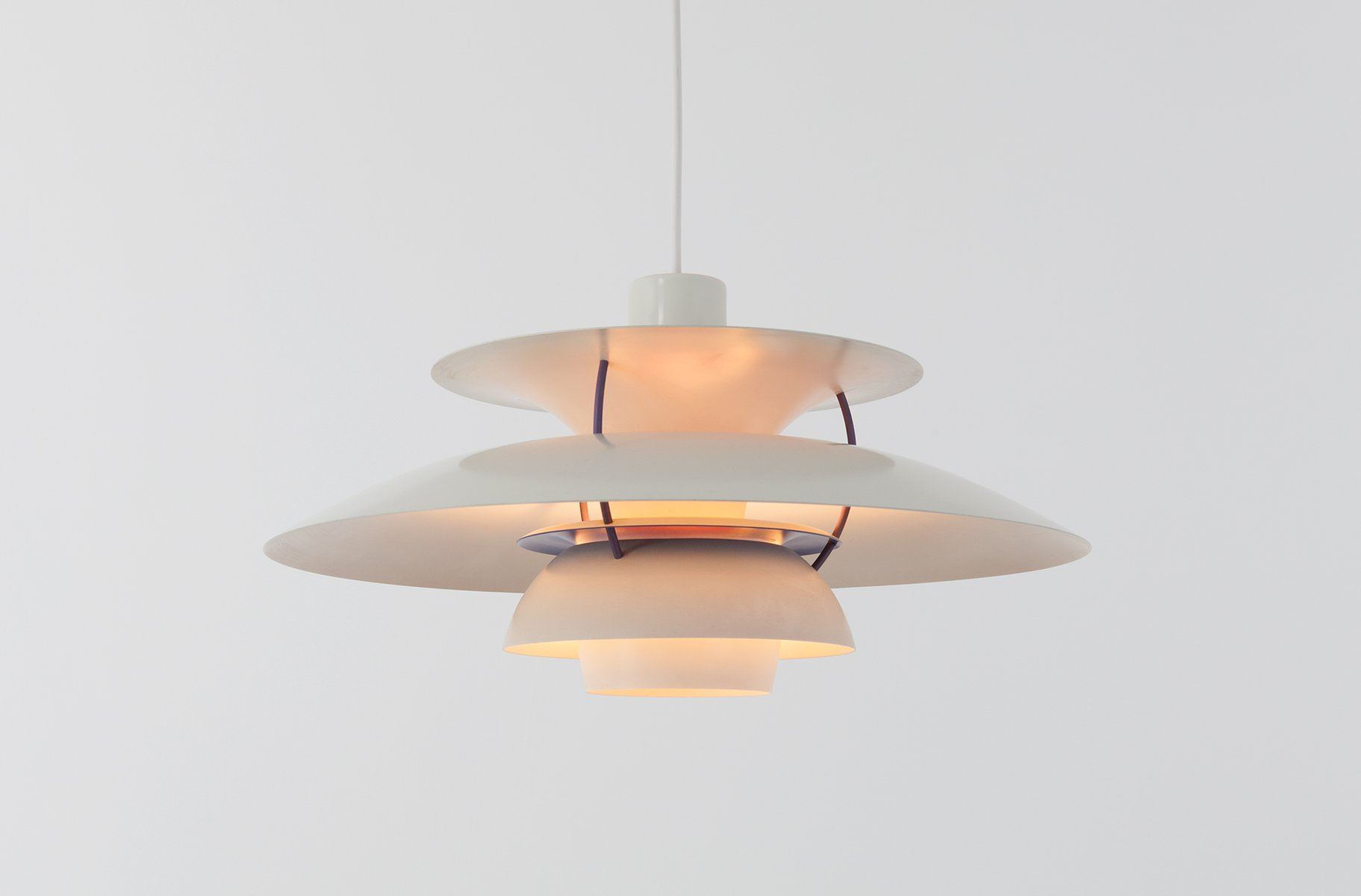mid century ph 5 lamp by poul henningsen for louis poulsen. Black Bedroom Furniture Sets. Home Design Ideas