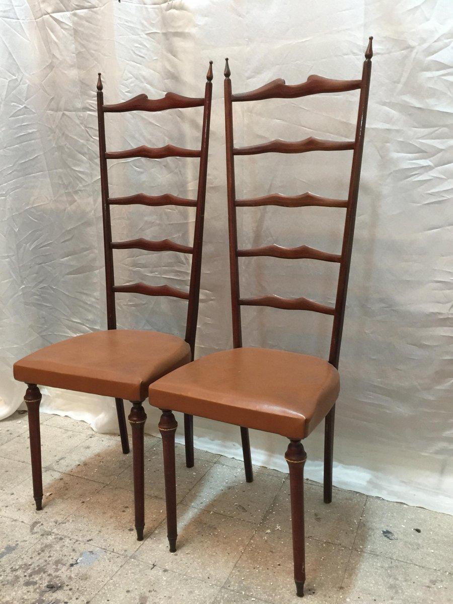 Sedie Chiavari con schienale alto, anni \'50, set di 2 in vendita su ...