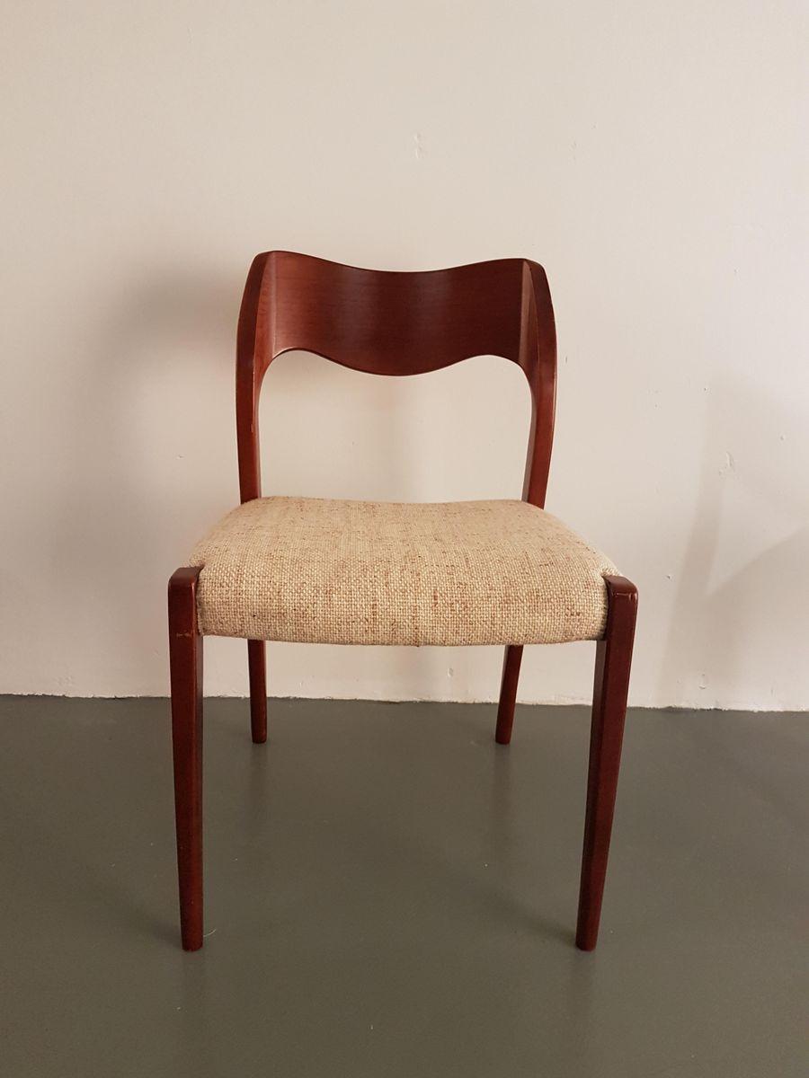 Chaises de salle manger mod le 71 en teck par niels otto for Modeles chaises salle manger