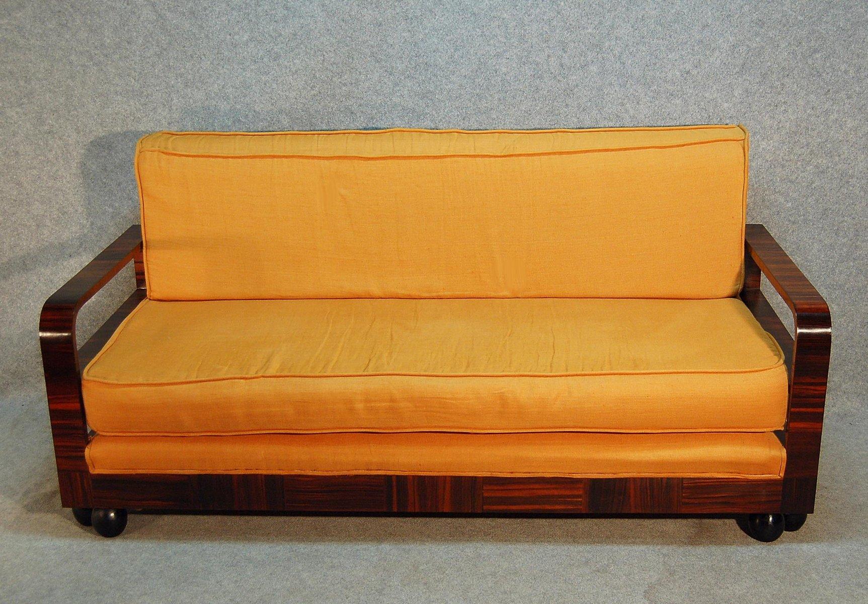 Art deco macassar ebony divan 1930s for sale at pamono for Divan vintage
