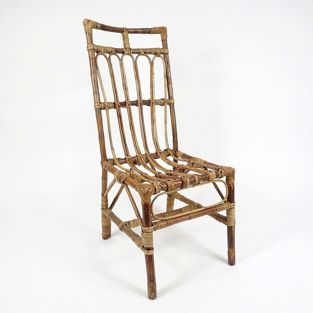 Vintage Hand Made Rattan Chairs, Set Of 6 For Sale At Pamono
