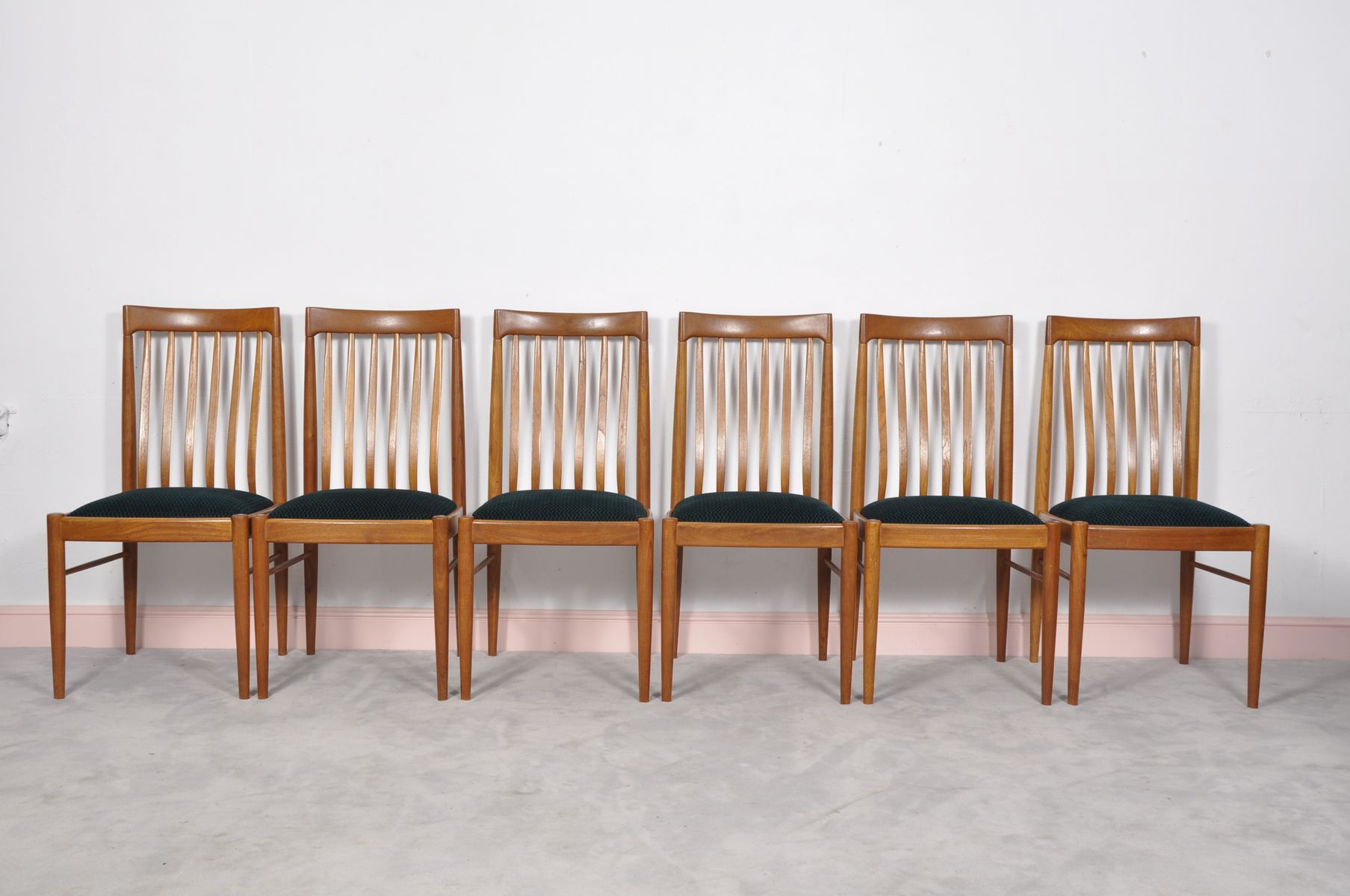 Green Danish Teak Dining Chairs By H W Klein For Bramin Set Of 6 Sale At Pamono