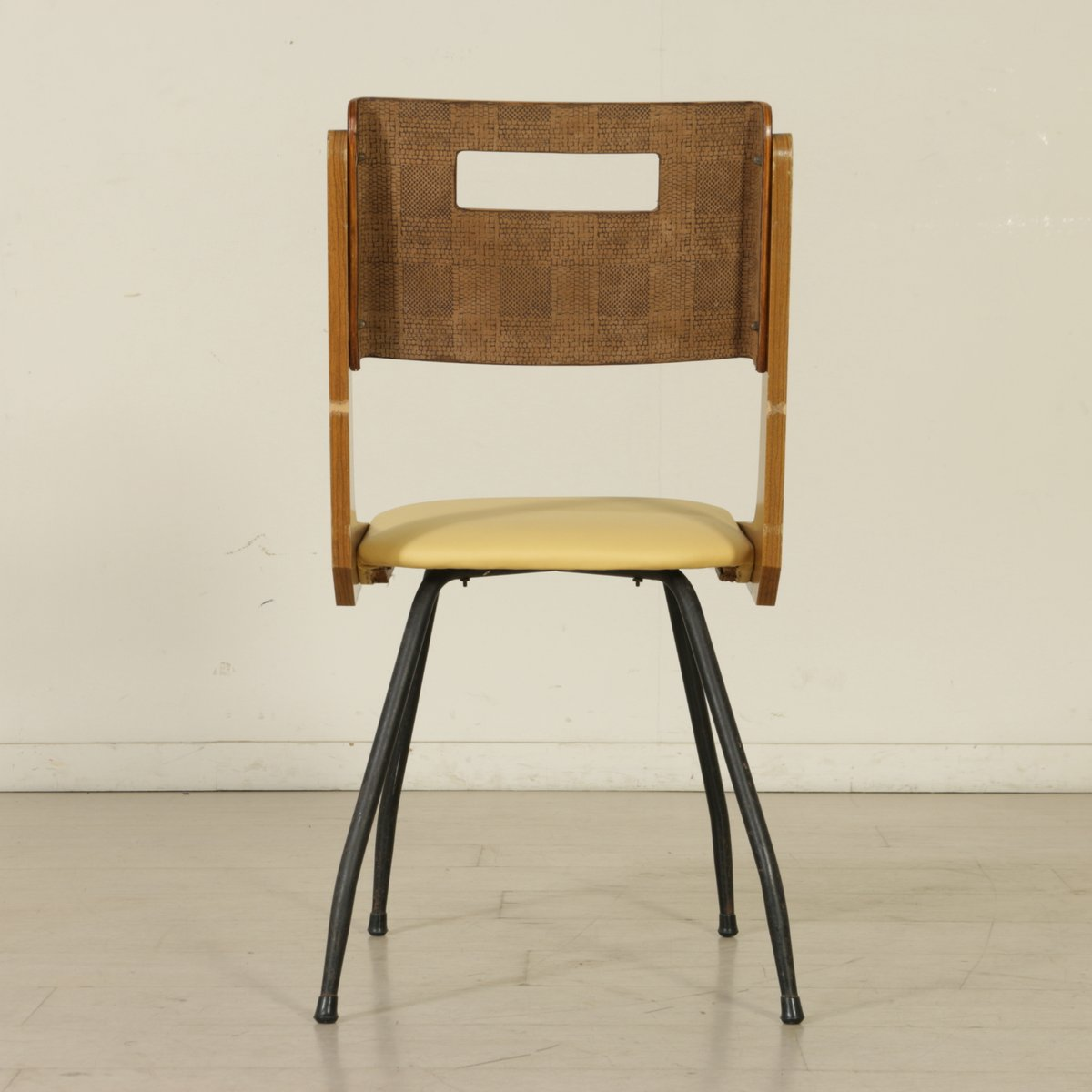 italienische vintage eichenholz st hle mit bezug 5er set bei pamono kaufen. Black Bedroom Furniture Sets. Home Design Ideas