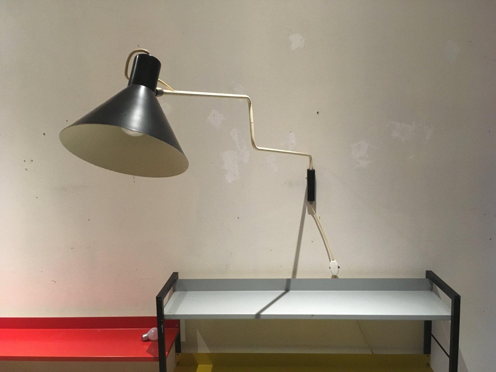 schwarze vintage paperclip lampe von j j m hoogervorst f r anvia bei pamono kaufen. Black Bedroom Furniture Sets. Home Design Ideas