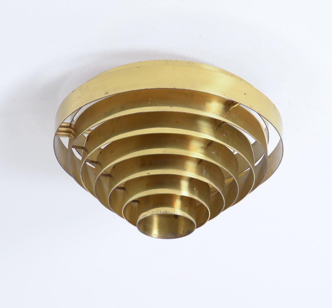 Messing deckenlampe von jules wabbes 1969 bei pamono kaufen for Deckenlampe messing