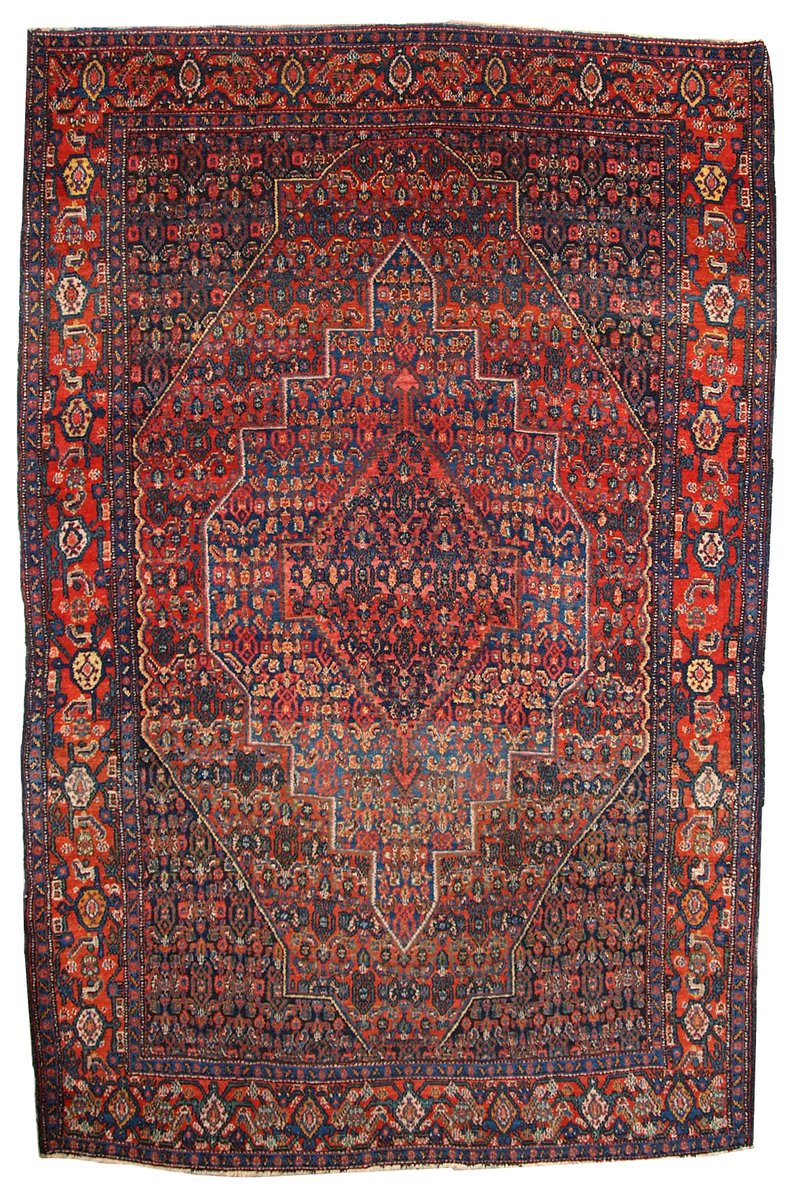 antiker persischer handgekn pfter senneh teppich 1900er. Black Bedroom Furniture Sets. Home Design Ideas
