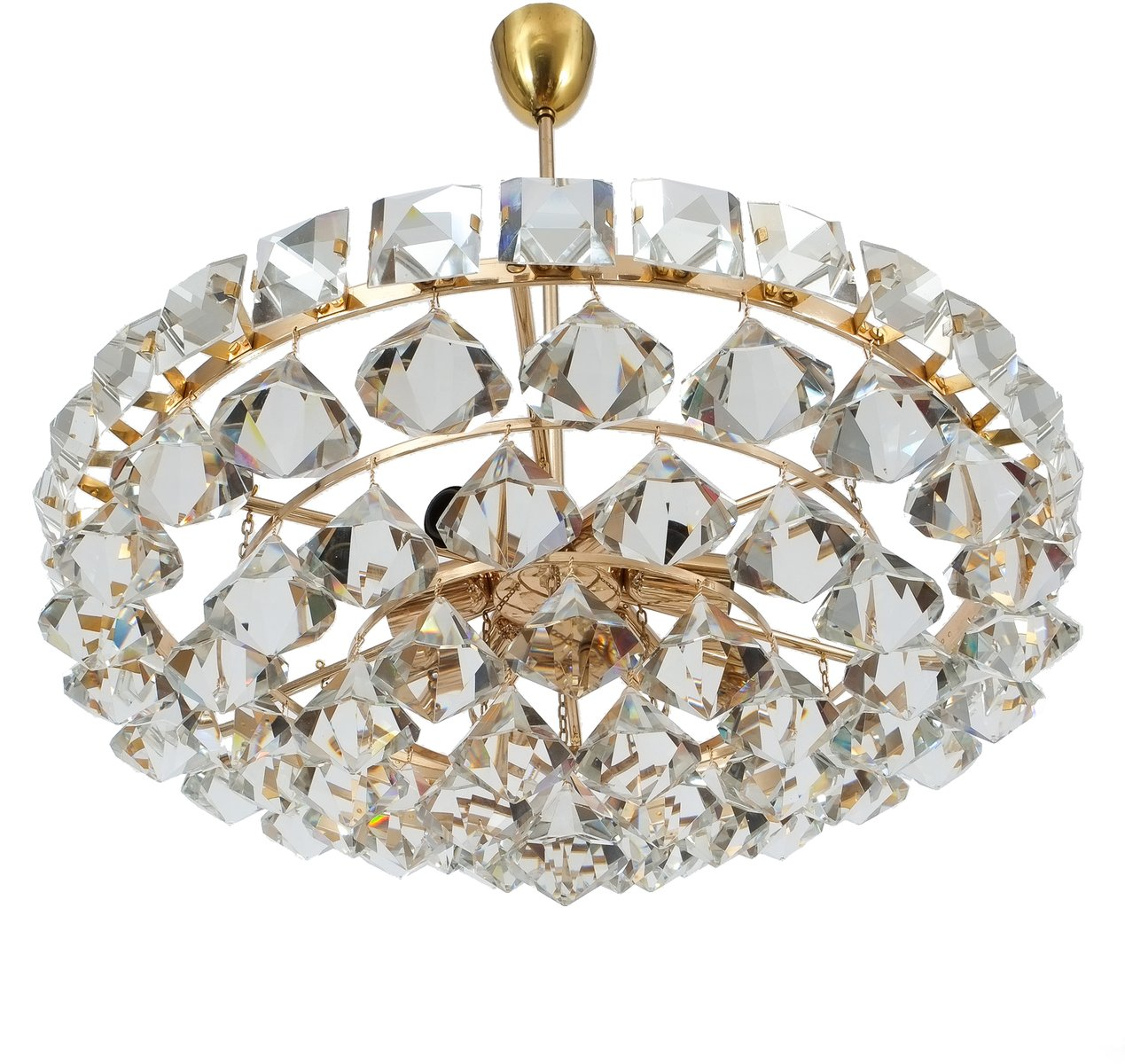 Vintage chandelier with pear shaped crystals from bakalowits vintage chandelier with pear shaped crystals from bakalowits sohne aloadofball Choice Image