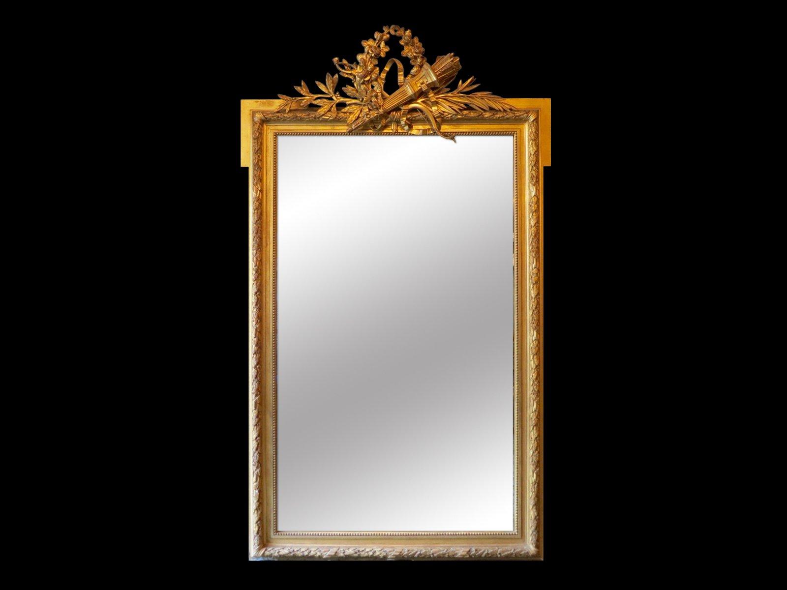 specchio antico dorato francia in vendita su pamono