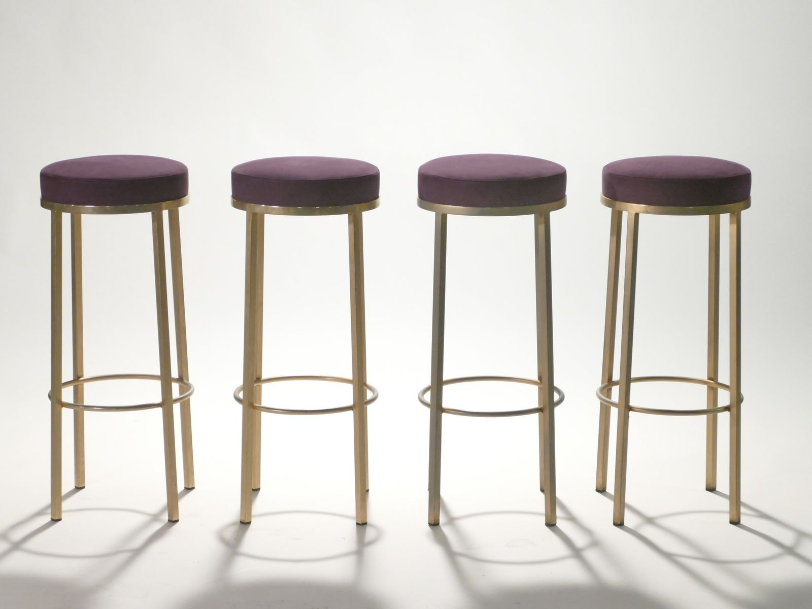 Brass Stools By Maison Romeo 1970s Set Of 4 For Sale At