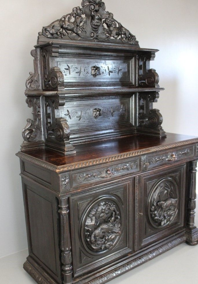 Antique French Carved Hunting Cabinet 12. $4,270.00. Price per piece - Antique French Carved Hunting Cabinet For Sale At Pamono