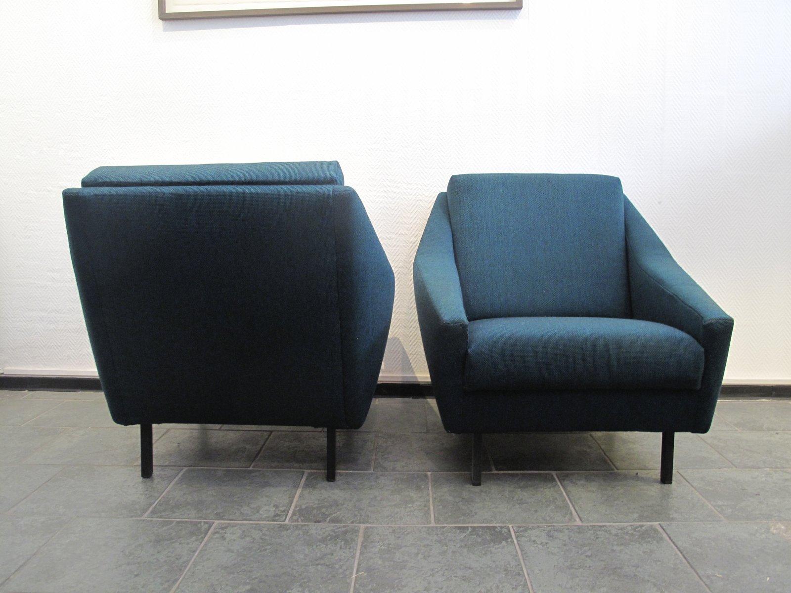 blaue italienische mid century sessel 1970er 2er set bei pamono kaufen. Black Bedroom Furniture Sets. Home Design Ideas