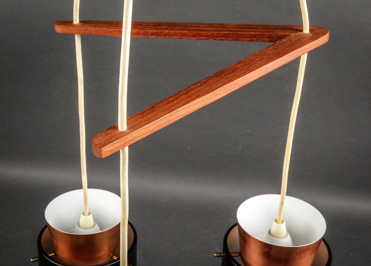 d nische mid century kupfer deckenlampe von jo hammerborg f r fog m rup 1960er bei pamono kaufen. Black Bedroom Furniture Sets. Home Design Ideas