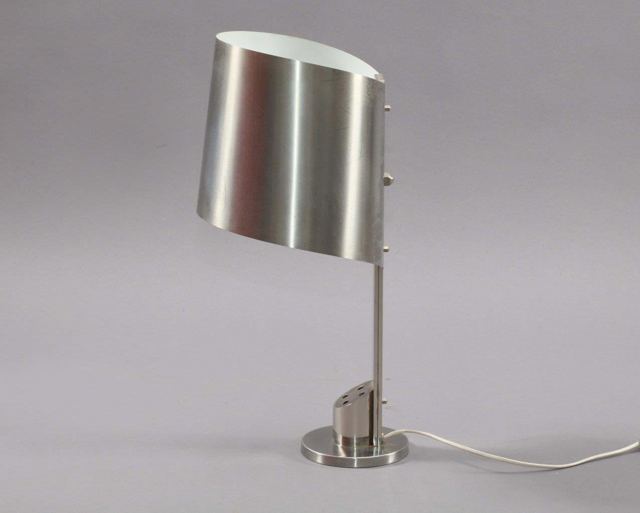 Stainless Steel Desk Lamp By Henri Mathieu 1970s For Sale
