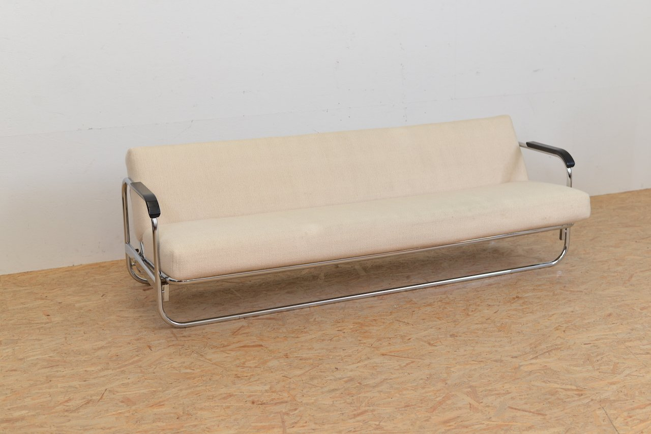 vintage schlafsofa mit beigem wollbezug von alvar aalto. Black Bedroom Furniture Sets. Home Design Ideas