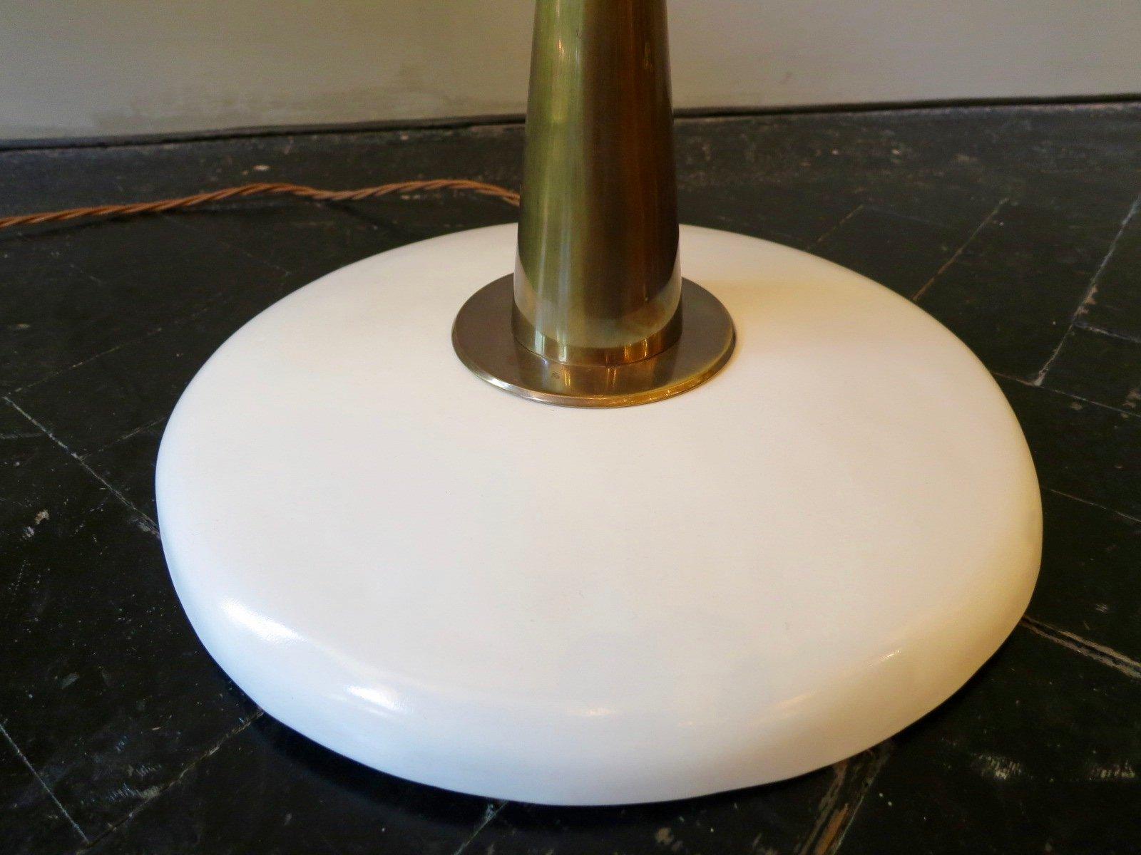 italienische mid century stehlampe mit schwarzem schirm 1950er bei pamono kaufen. Black Bedroom Furniture Sets. Home Design Ideas