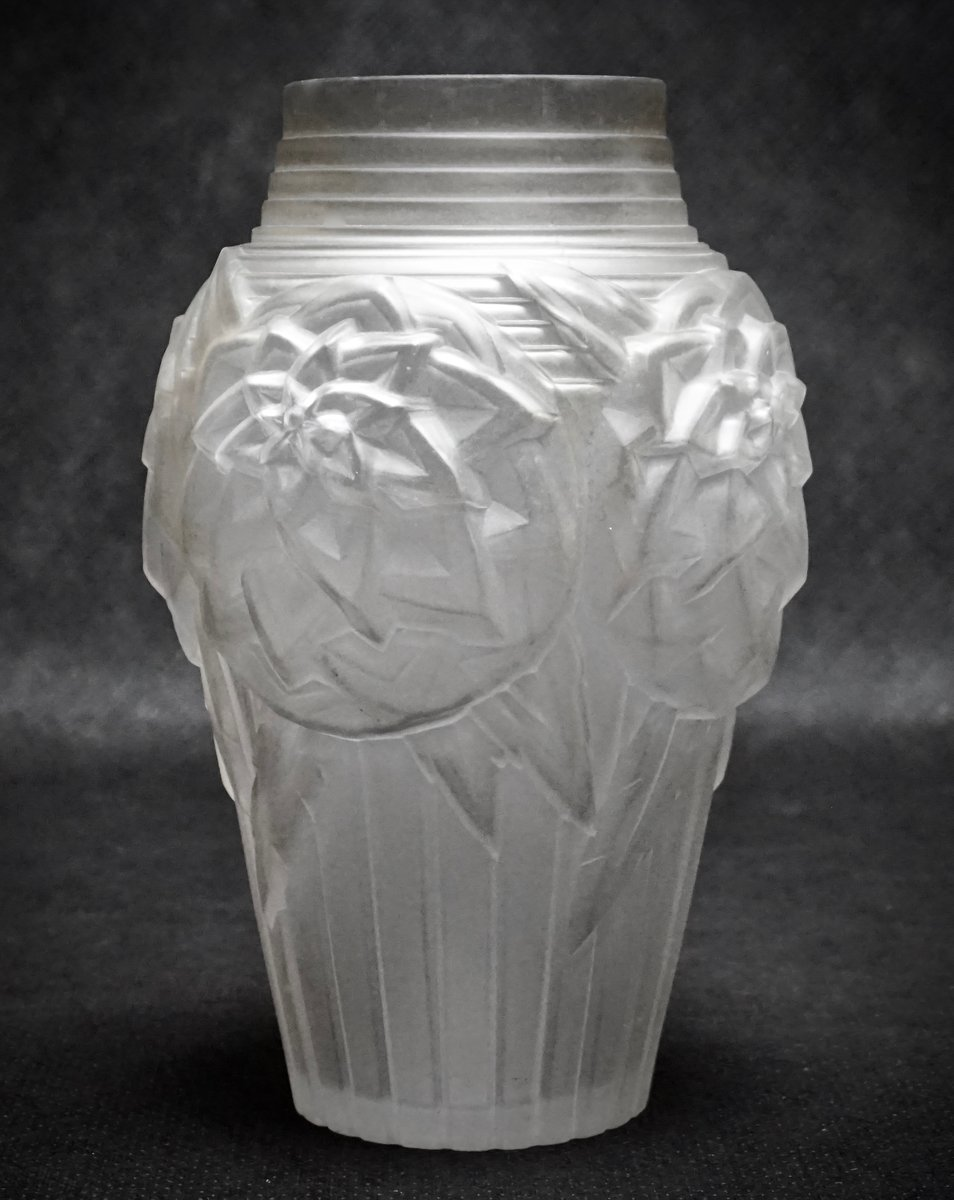Art deco glass vases from mller frres 1920s set of 2 for sale previous floridaeventfo Image collections
