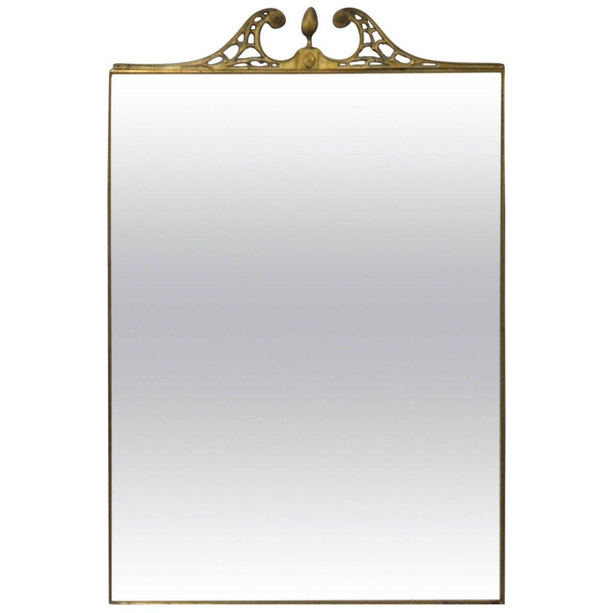 Specchio da parete grande con cornice in ottone italia for Specchio grande da parete