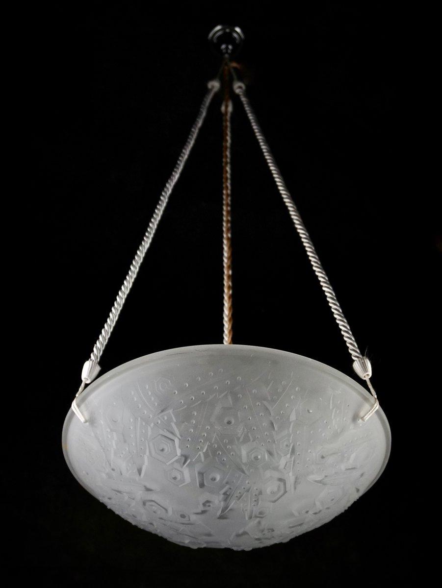 suspension art d co de m ller fr res france 1930s en. Black Bedroom Furniture Sets. Home Design Ideas
