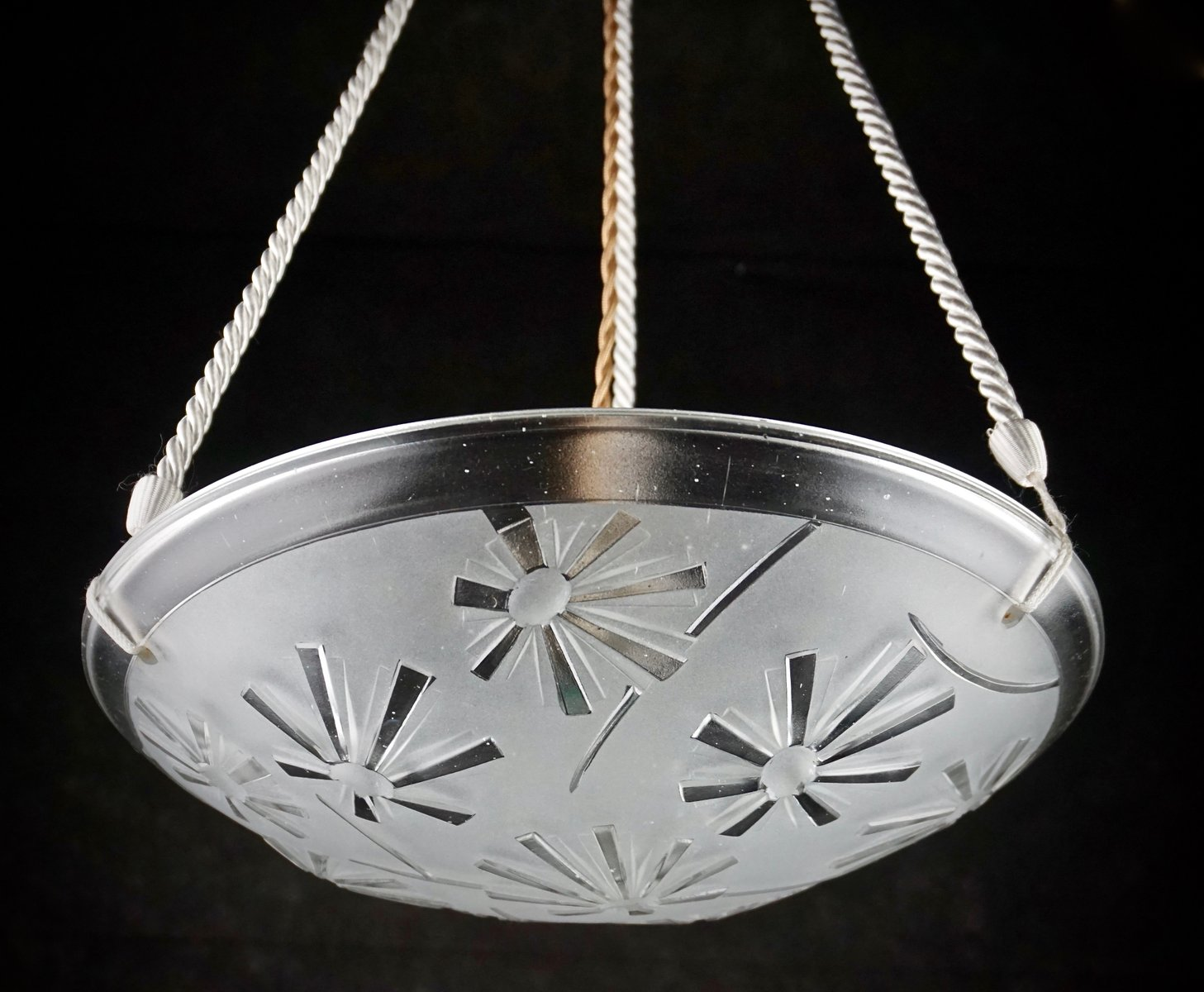 Modernist french art deco chandelier by david gueron for degu previous arubaitofo Images
