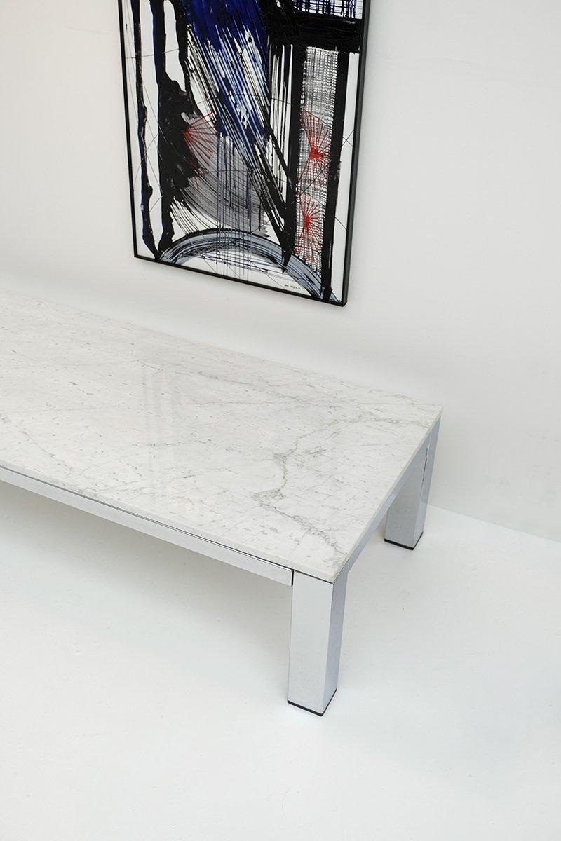 Couchtisch aus chrom marmor 1970er bei pamono kaufen for Couchtisch marmor