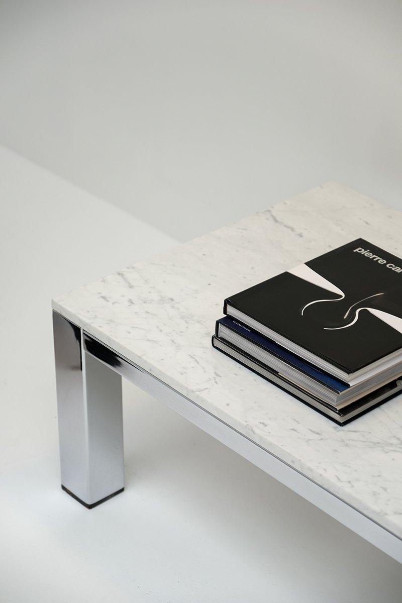couchtisch aus chrom marmor 1970er bei pamono kaufen. Black Bedroom Furniture Sets. Home Design Ideas