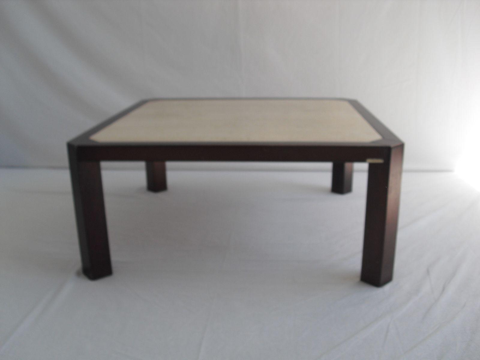 table basse mid century en travertin par fedam belgium. Black Bedroom Furniture Sets. Home Design Ideas