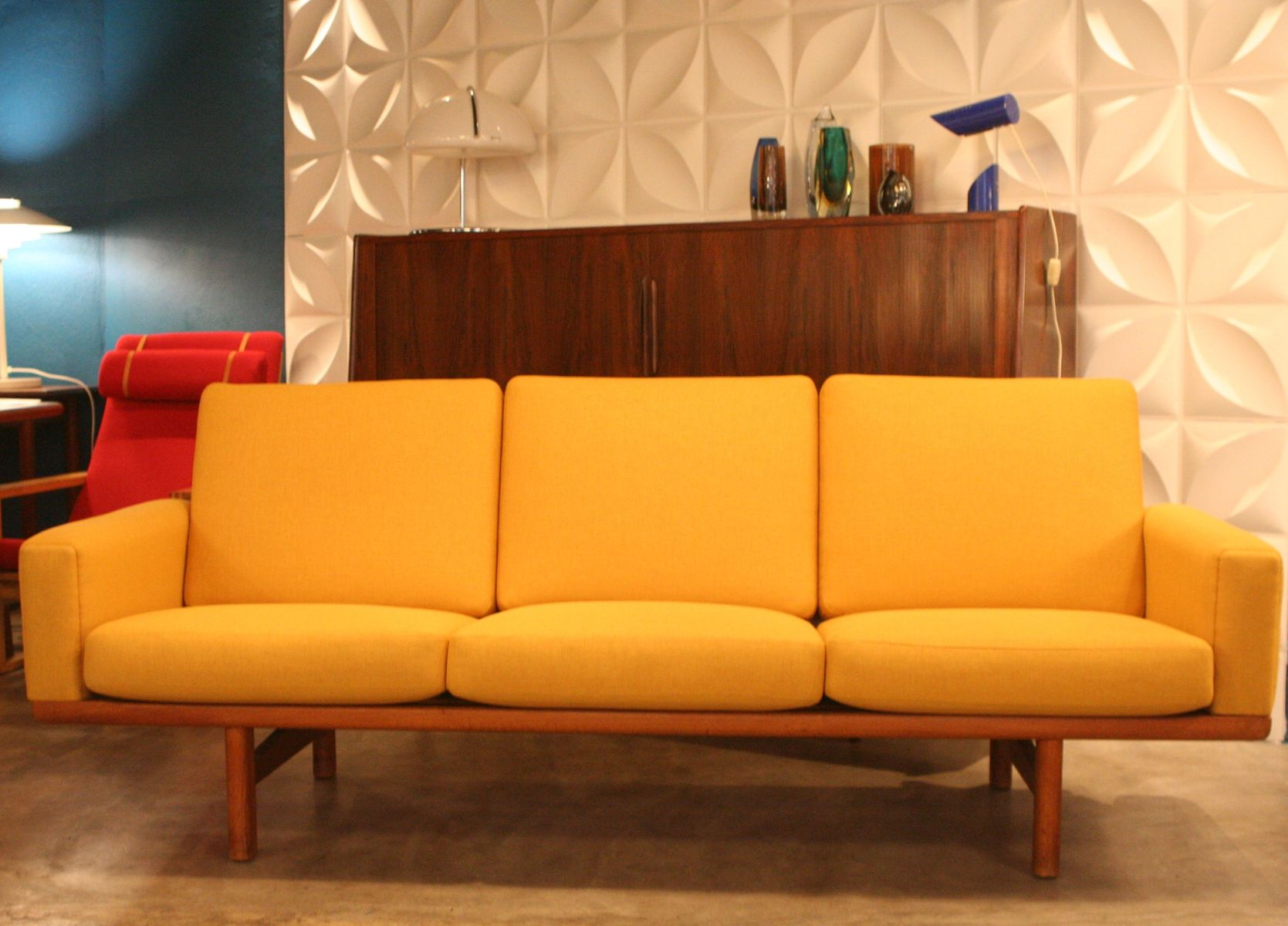 Vintage GE 236 Three Seater Sofa By Hans J. Wegner For Getama For Sale At  Pamono