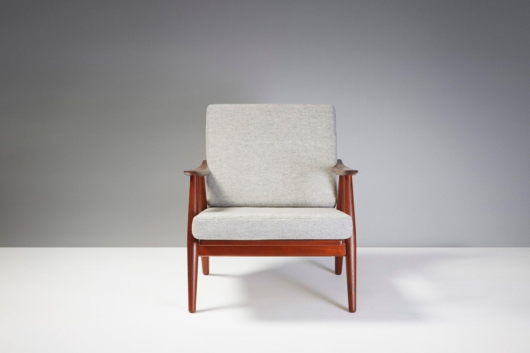 ge 270 teak sessel von hans j wegner 1956 bei pamono kaufen. Black Bedroom Furniture Sets. Home Design Ideas