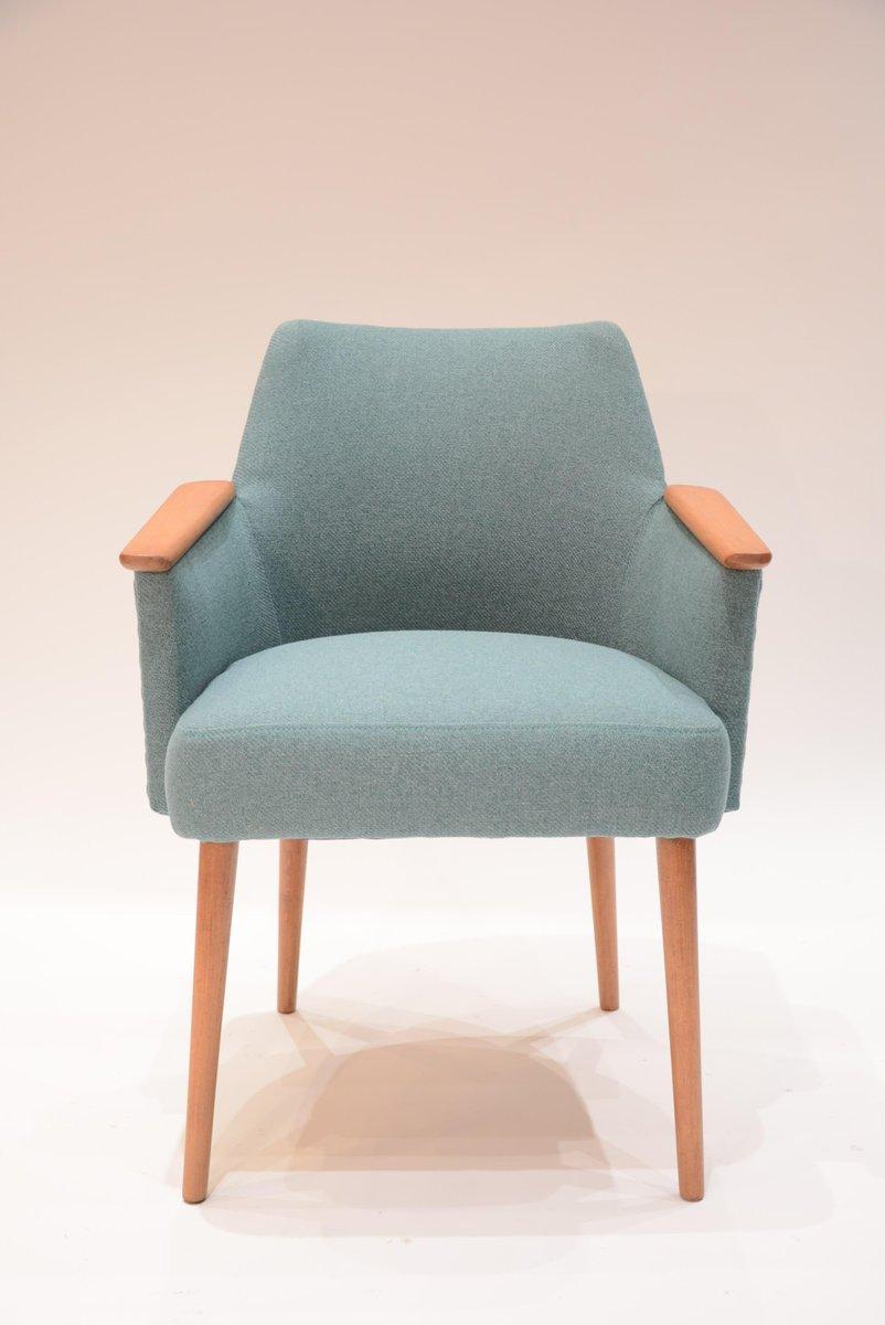 fauteuil vintage sovi tique bleu vert 1960s en vente sur pamono. Black Bedroom Furniture Sets. Home Design Ideas