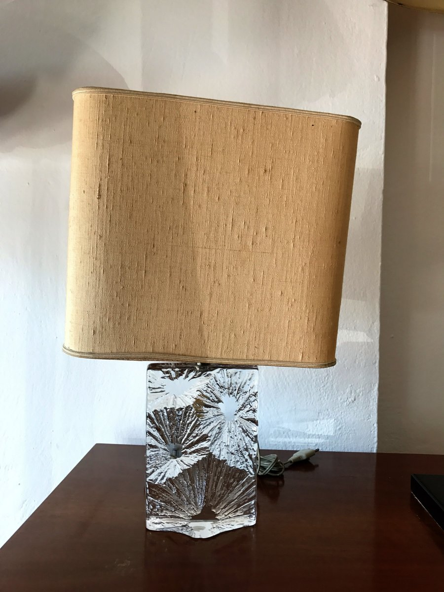 Crystal Table Lamp Form Daum France, 1960s