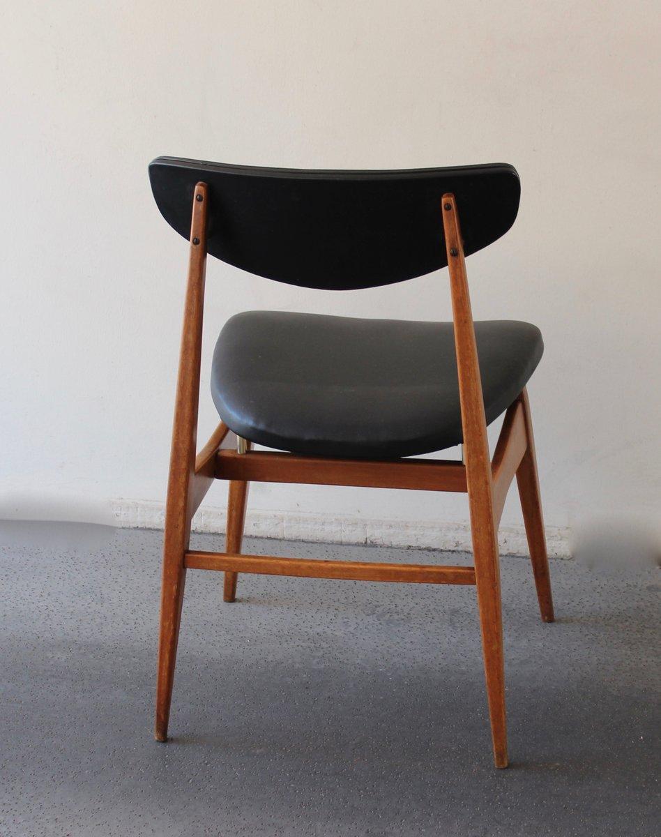 chaise scandinave en noir 1960s en vente sur pamono. Black Bedroom Furniture Sets. Home Design Ideas