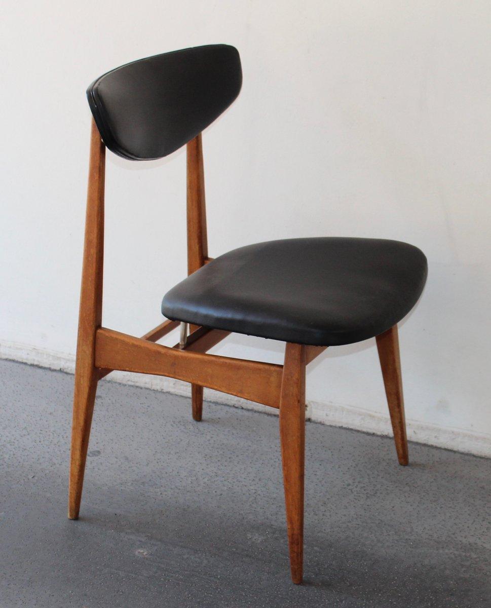 skandinavischer stuhl in schwarz 1960er bei pamono kaufen. Black Bedroom Furniture Sets. Home Design Ideas