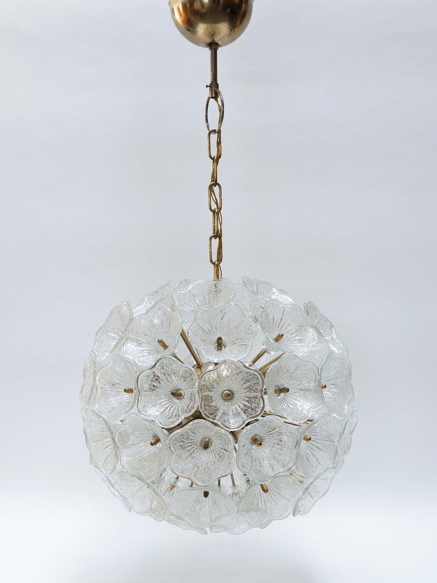 chandelier fleur en verre de murano de murano 1960s en vente sur pamono. Black Bedroom Furniture Sets. Home Design Ideas