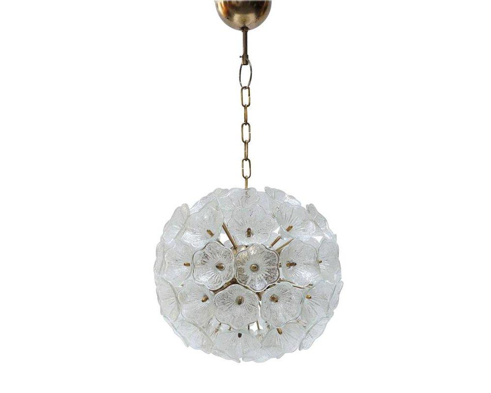 Murano glass flower chandelier from murano 1960s for sale at pamono murano glass flower chandelier from murano 1960s arubaitofo Image collections