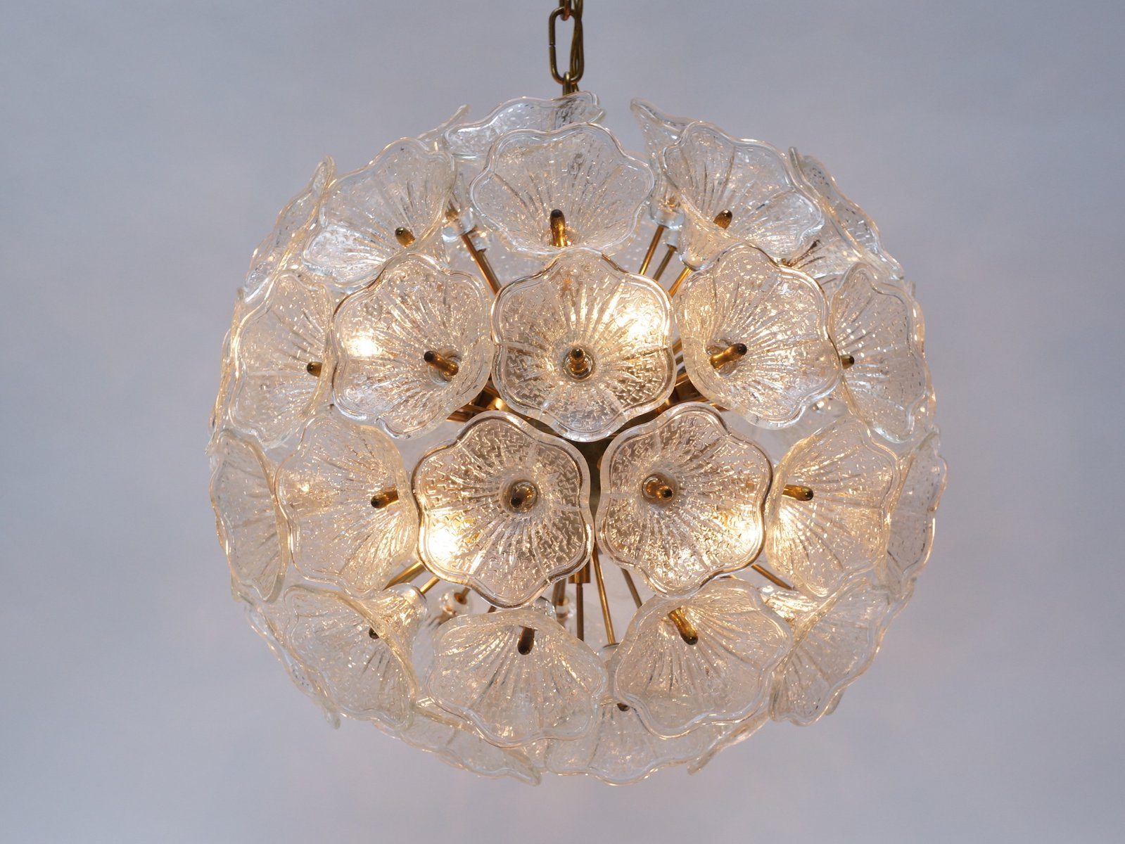 Murano Glass Flower Chandelier from Murano 1960s for sale at Pamono