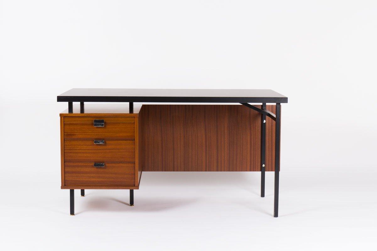 bureau en acajou par jacques hitier pour charron 1950s en. Black Bedroom Furniture Sets. Home Design Ideas